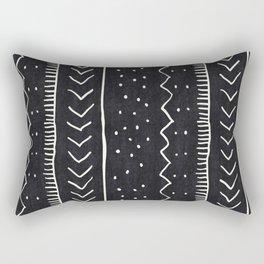 Moroccan Stripe in Black and White Rechteckiges Kissen