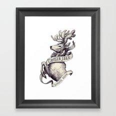 Ginger Deer Framed Art Print