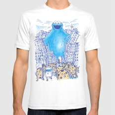 Monster in the city Mens Fitted Tee MEDIUM White