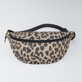 Animal Print, Spotted Leopard - Brown Black Fanny Pack