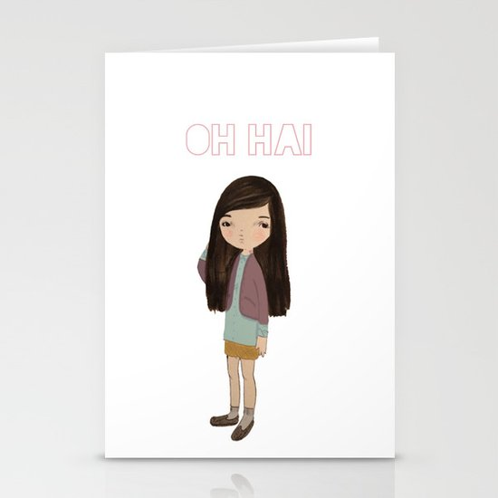 oh hai Stationery Cards