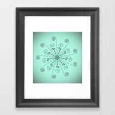 Minimalist flower mandala Framed Art Print