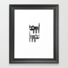 Three legged cats Framed Art Print