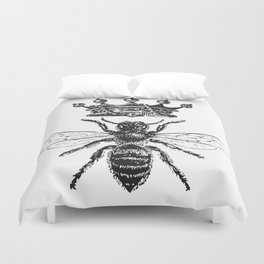 Queen Bee | Black and White Duvet Cover