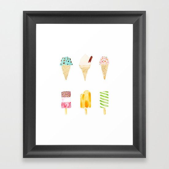ice cream selection Framed Art Print