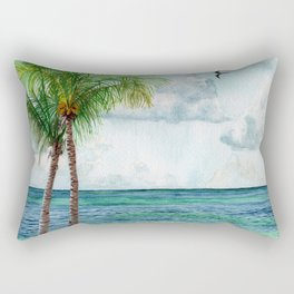 Peaceful Mexico Beach Rectangular Pillow