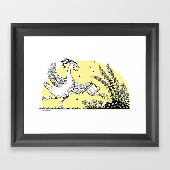Garden Duck Framed Art Print