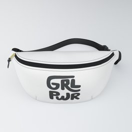 Grl Pwr black and white Fanny Pack