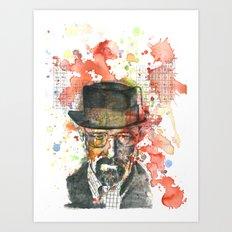 Walter White from Breaking Bad Art Print