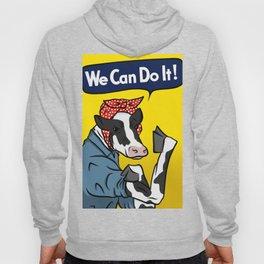 We can do it! Rosie the Riveter Vegan Cow Hoody