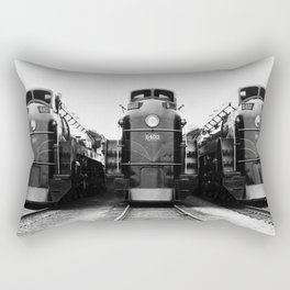 Three of a Kind Train Locomotives - Trois locomotives du même genre  Rectangular Pillow