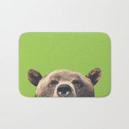 Bear - Green Bath Mat