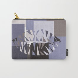Geometric Lips Carry-All Pouch