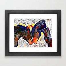 I Spotted Horses Framed Art Print