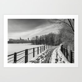 Arriving to Ottawa Art Print