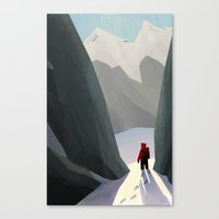 hiking Canvas Prints featuring Hiking by jaromvogel