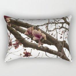 Tulip Magnolia in Snow Rectangular Pillow
