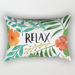 Relax - Tropical Watercolor floral Rectangular Pillow