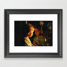 sunset glow Framed Art Print