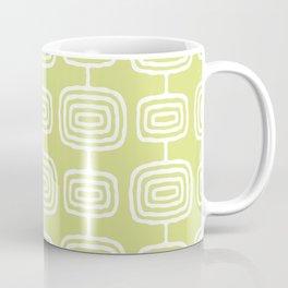 Mid Century Modern Atomic Rings Pattern 731 Chartreuse Coffee Mug