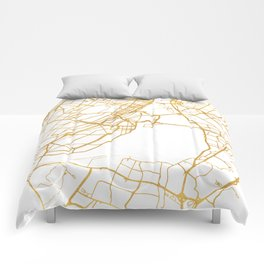 MONTREAL CANADA CITY STREET MAP ART Comforters