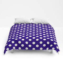 Polka Dot Party in Blue and White Comforters