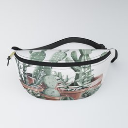 Potted Cacti + Succulents Rose Gold Fanny Pack