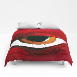 Red woman Comforters