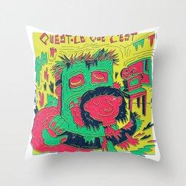 La Cité de la peur X Talking Heads Throw Pillow