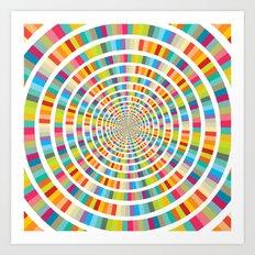 Colour Mix Circles Art Print
