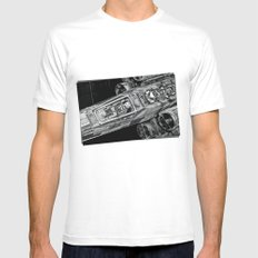 X-Wing Fighter White MEDIUM Mens Fitted Tee