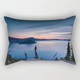 Sunrise At Crater Lake Rectangular Pillow