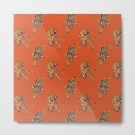 red tiger print Metal Print