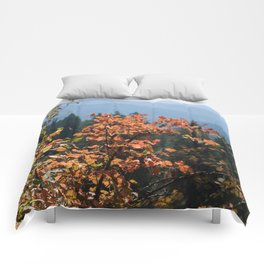 Colorful Fall Leaves Photography Print Comforters