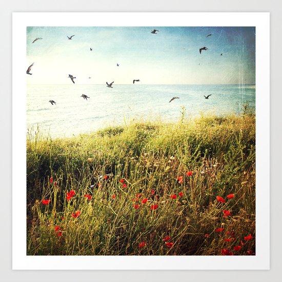 Seascape - One late, lazy, beautiful morning Art Print