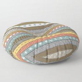 natural color doodle stripes Floor Pillow