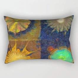 Unijugous Threadbare Flowers  ID:16165-010211-80730 Rectangular Pillow