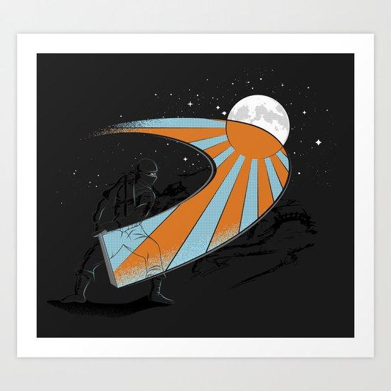 Ninja Slice II - Color Art Print