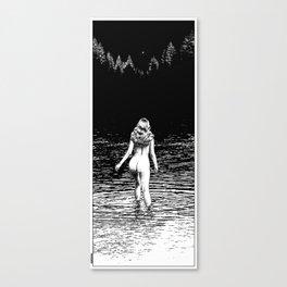 asc 846_La ronde d'argent (Ascending Venus) cliped Canvas Print