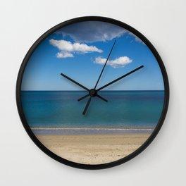 Stripes of blue Wall Clock