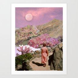 Path to pink moon Art Print