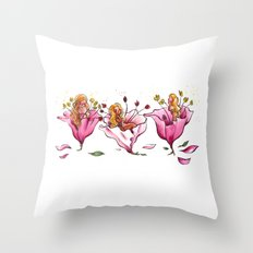 Naked Flowers Throw Pillow