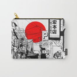 Tokyo street sunrise Carry-All Pouch