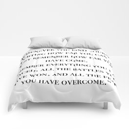 Remember how far you've come - quote Comforters