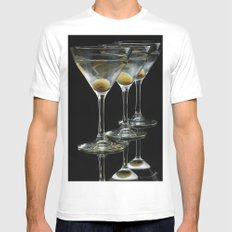 Three Martini's and three olives.  Mens Fitted Tee White X-LARGE
