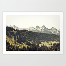 Epic Drive through the Mountains Art Print