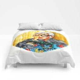 Iris Apfel.  Comforters