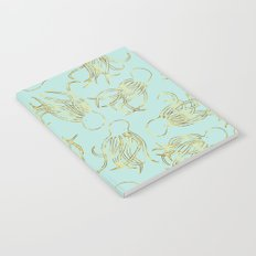 Gold Squid (Mint) Notebook