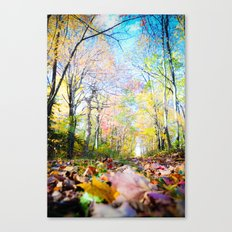 Amongst the Leaves Canvas Print