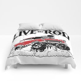 1955 CHEVY CLASSIC HOT ROD Comforters